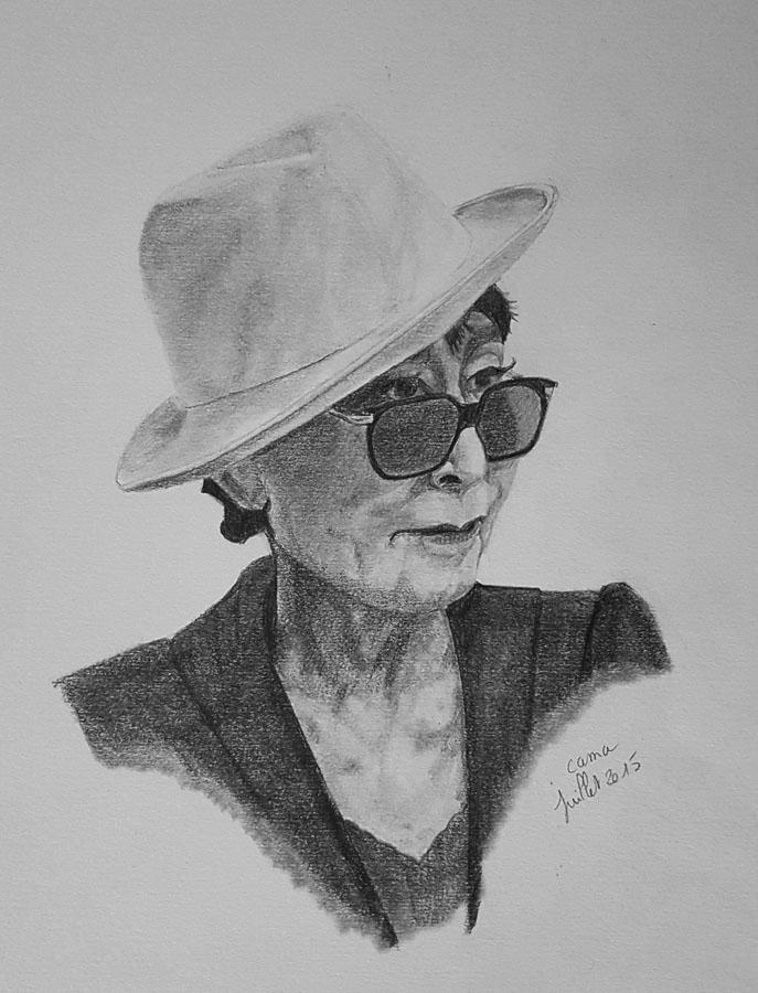 Apprendre a dessiner - porrait au crayon réalisé par une élève après une année de cours